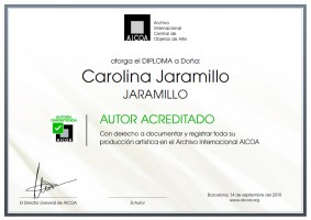 Certificado Autoría Carolina Jaramillo