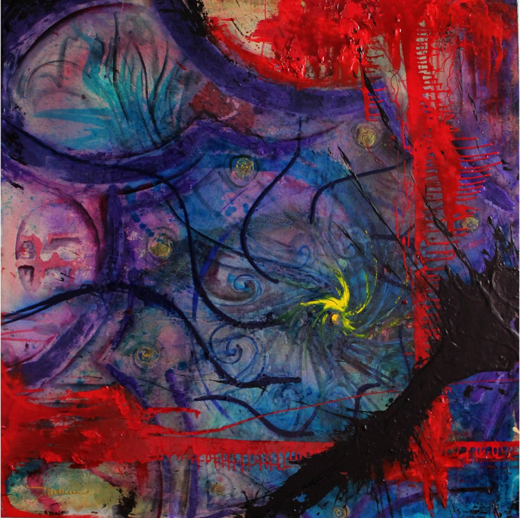 """""""Arcángel Zaquiel""""  125 x 125 x 5 cm"""