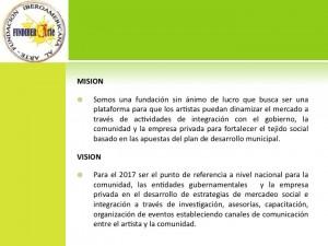 mision vision fundiberarte